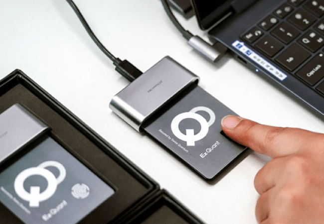 EzQuant Fingerprint recognition with QRNG